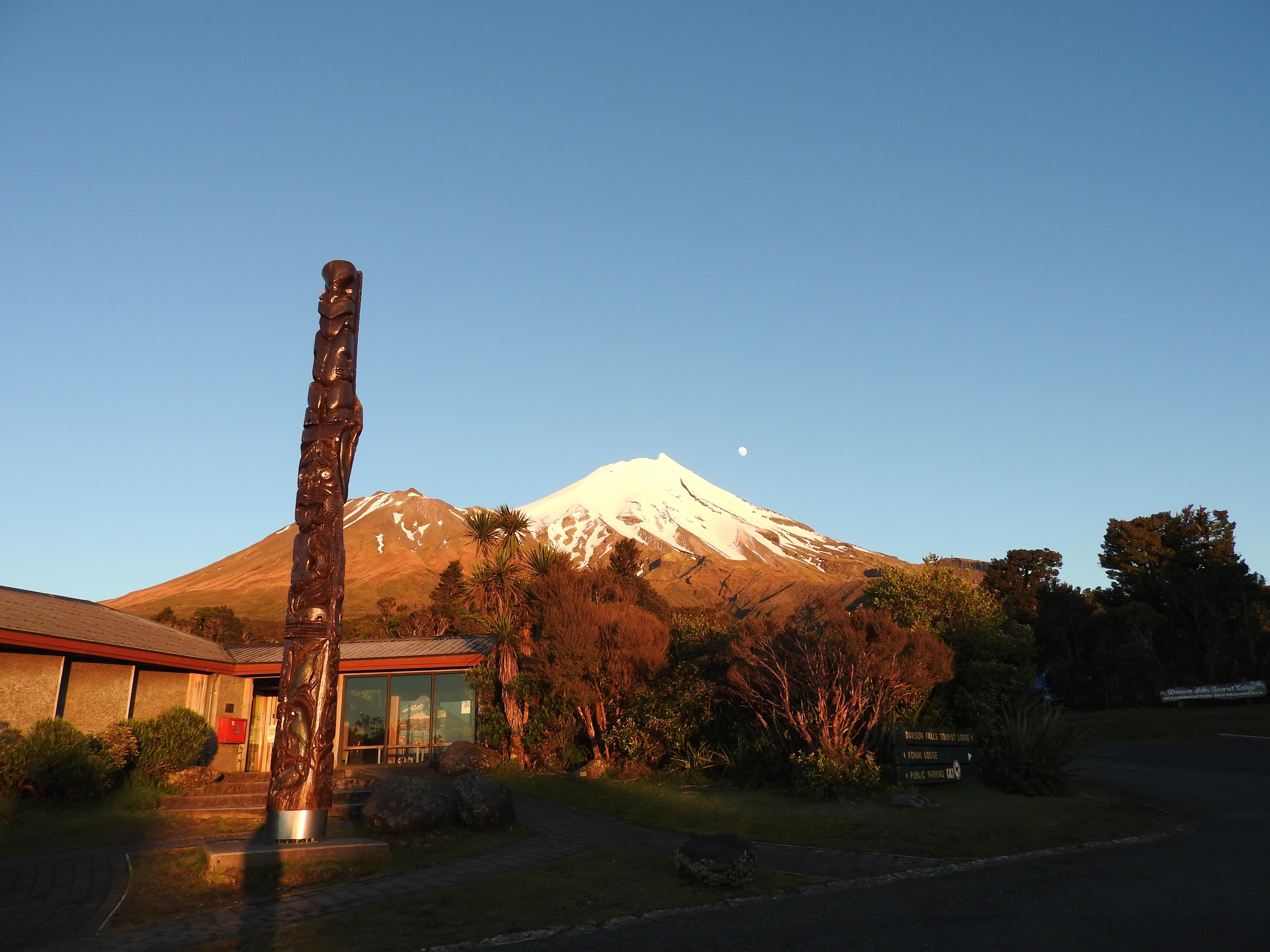 Lever de soleil sur le Taranaki